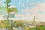 Watercolor Painting - April - Phil Morin